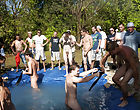 There is no thing like a good summer time splash, especially when the pool is fellow made and ghetto rigged as fuck gay asian group