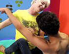 These guys kiss and touch as they strip every other down to no thing but skin free gay twink porn at Boy Crush!
