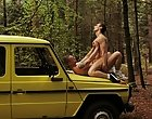 After plenty of juicy oral action, these guys take it in turns to fuck each other on and roughly Darren's Jeep befo