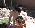 There's a real spark of romance between twinks Lexx Jammer and Chad Hollywood as they share a picnic together outdoors gay men pissing outdoors