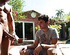 Alejandro couldn't take it towards the end begged for Castro's hot nut outdoor gay fuck