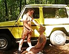 After loads of exciting said manner, these guys take it in turns to fuck each other on and around Darren's Jeep before cumming all terminated eac