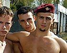 The fight for balls licking and gay dick sucking ends up in explosive threesome effectiveness where this military gay se