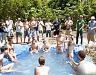 There is nothing like a admirable summer time splash, especially when the pool is chap made and ghetto rigged as fuck gay group nude