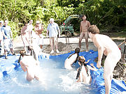 I mean its not embarrassing enough playing naked in a nasty fake pool gay fisting groups
