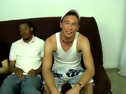 He started making noises right away and moaning showing he was enjoying it interracial gay blowjobs