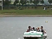 Four uninitiated gay men are enjoying a nice  at the lake gay outdoors florida brevar
