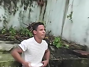 He fucked his mouth and Jake massaged his balls while he swallowed that tough cock gay outdoor oral sex