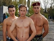 The rise up for balls licking and gay dick sucking ends up in explosive threesome action where this military gay sex furor turns a soldier's ass
