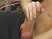 Mason strips down and fondles his bod while playing with his cock show men masturbation