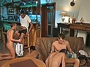 Filip just adores Sanches and the brawny black cock he has, between his black-hearted skinned regular thighs gay group sex movies