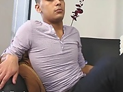 Danny plays with his feet young chubby gay boys