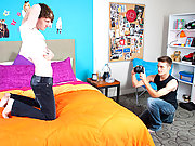 It's early evening in a beautiful home twink gay black