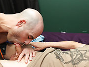 Phillip eats him out eagerly in advance of sliding his hard ramrod right up that Daddy-hole, fucking him hard until they're the one and the other