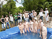 There is no thing like a worthy summer time splash, especially when the pool is man made and ghetto rigged as fuck gays having group sex