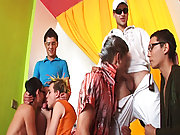 Amazing party free group gay sex videos at Crazy Party Boys