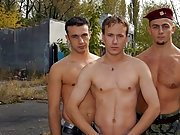 After the hunky 'Major' Eric gets the perfect double sucking, he can't control his own after gay military porn free
