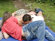 The threesome oral sex continues for several minutes as lust builds inside them outdoor males nude