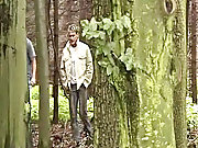 Two guys walking in an enchanted forest can only provide the mood to whoop it up their deepest desire for each other's ass old gays outdoors
