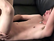 Dominant Damien makes Andrew suck him wither before he bends him over and fucks him on our sofa gay boy licking at Homo EMO!