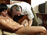 Then, he lubes up his own tool in the boy's hot wet mouth and drives his shaft all the way into the twink's tender behind man sucking boys d